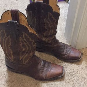 Justin boots distressed vintage goat 10 B